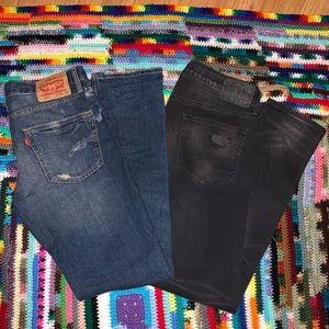 Levi & American Eagle Jeans Bundle 😎
